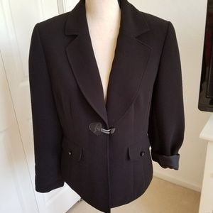 Tahari Black One Button Jacket